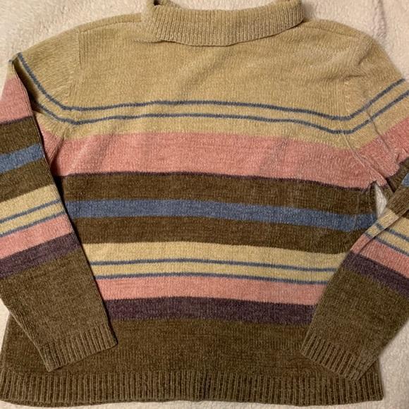 Embroidered Chenille Jumper Vintage Brown Chenille Sweater Vintage Oversize Knit Jumper House Scene Embroidered Sweater Brown Chenille Knit